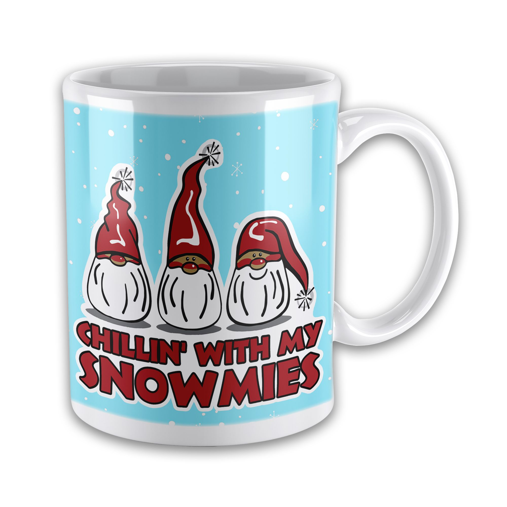 Set of Chillin With My Snowmies Funny Christmas Mug w Coaster
